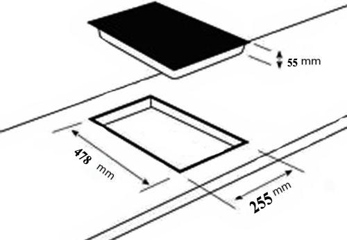 Ph nix domino gaskochfeld glas gaskocher 2 flammig kochfeld for 2 platten kochfeld